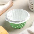 Форма для выпечки круглая с бортиком «Горох», цвет зелёный
