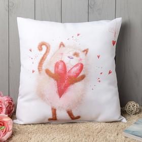 Подушка декоративная «Твой котик», 40х40 см, габардин