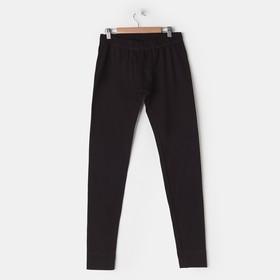 Брюки мужские термо, цвет чёрный, размер 58