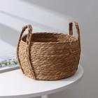Корзина для хранения плетёная Доляна «Тэй», 25×14×23 см, цвет коричневый - Фото 1