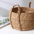 Корзина для хранения плетёная Доляна «Тэй», 25×14×23 см, цвет коричневый - Фото 2