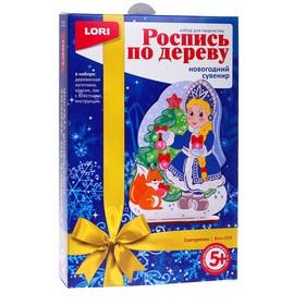 """Роспись по дереву.Новогодний сувенир """"Снегурочка"""""""