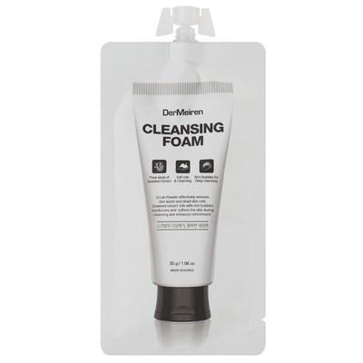 Пенка для лица DerMeiren, для глубокого очищения кожи, с экстрактом водорослей, 30 мл