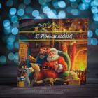 """Шоколадная открытка """"Праздничный шоколад с дедом Морозом"""", 4 шт * 5 гр"""