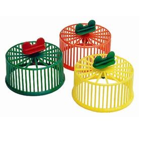 Колесо для грызунов пластиковое, без подставки, 9 см, микс цветов Ош
