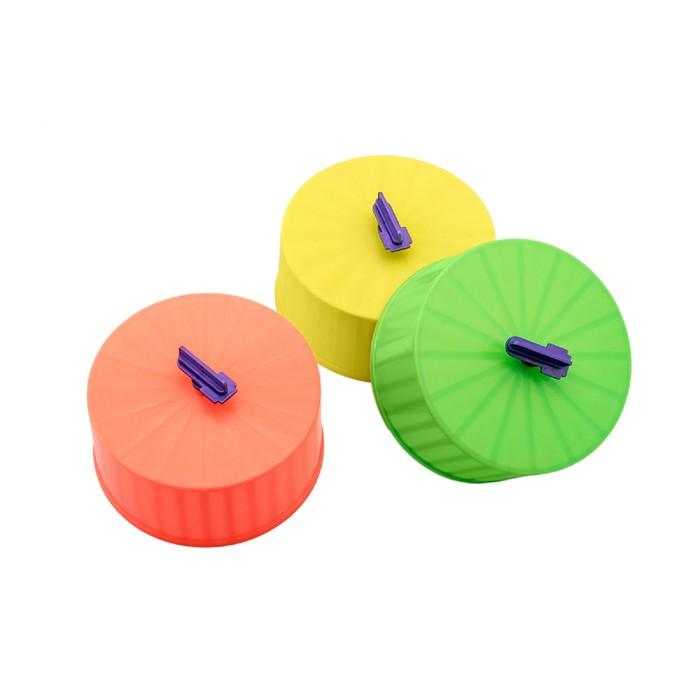 Колесо для грызунов полузакрытое пластиковое, без подставки, 14 см, микс цветов
