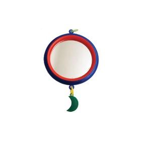 Зеркало 'Круг' большое с пластиковым подвесом, для птиц, 9 см, микс цветов Ош