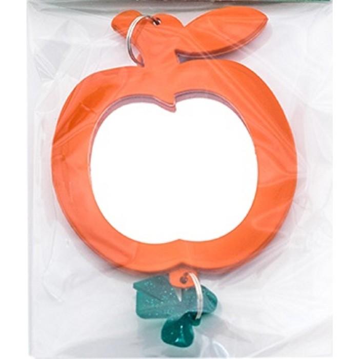 """Зеркальце """"Яблочко"""" для птиц, с пластиковым подвесом, 5 см, микс цветов"""