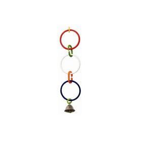 Игрушка для птиц 3 кольца с колокольчиком Ош