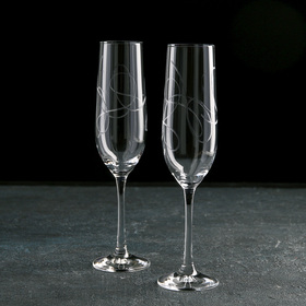 Набор бокалов для шампанского String, 190 мл, 2 шт