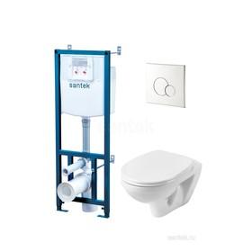 Комплект инсталляции: подвесной унитаз «Бореаль» сиденье дюр. softclose, инсталляция, панель хром Ош