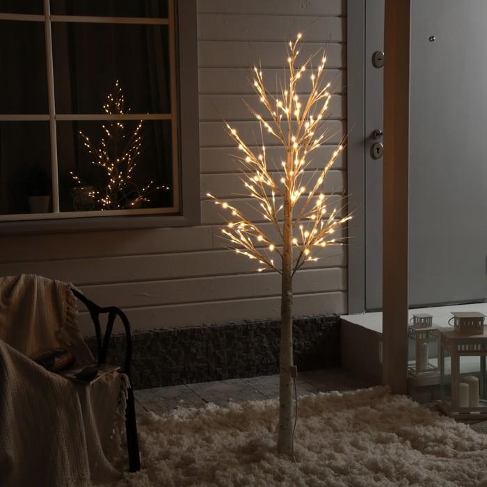 Дерево светодиодное Береза, 1,8 м, 144 LED, 220 В, ТБЕЛЫЙ