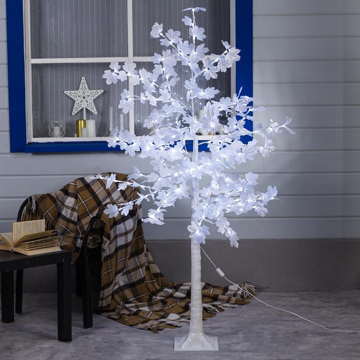 """Дерево светодиодное """"Клен белый"""", 1,6 м, 160 LED, 220 В, БЕЛЫЙ"""