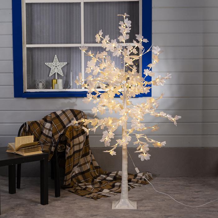 """Дерево светодиодное 1,6 м, """"Клен белый"""", 160LED, 220V, Т/БЕЛЫЙ"""