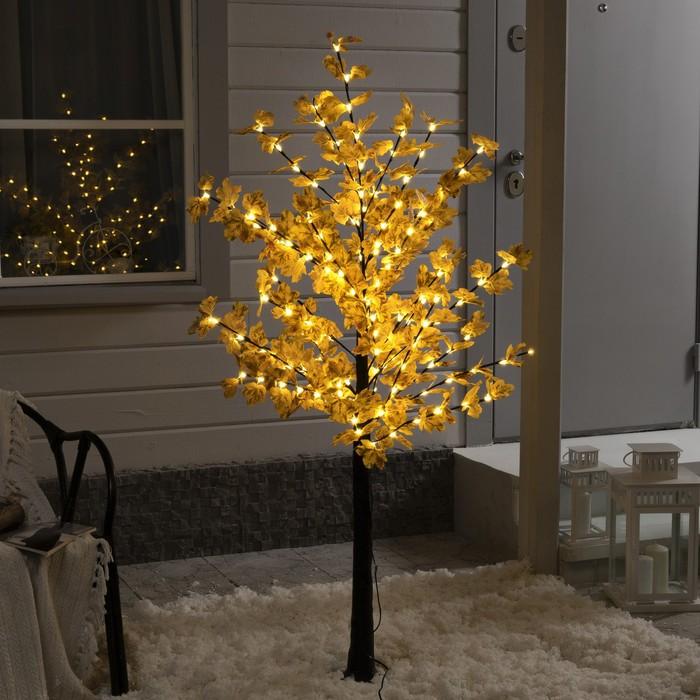 Дерево светодиодное Клен осенний, 1,6 м, 160 LED, 220 В, БЕЛЫЙ