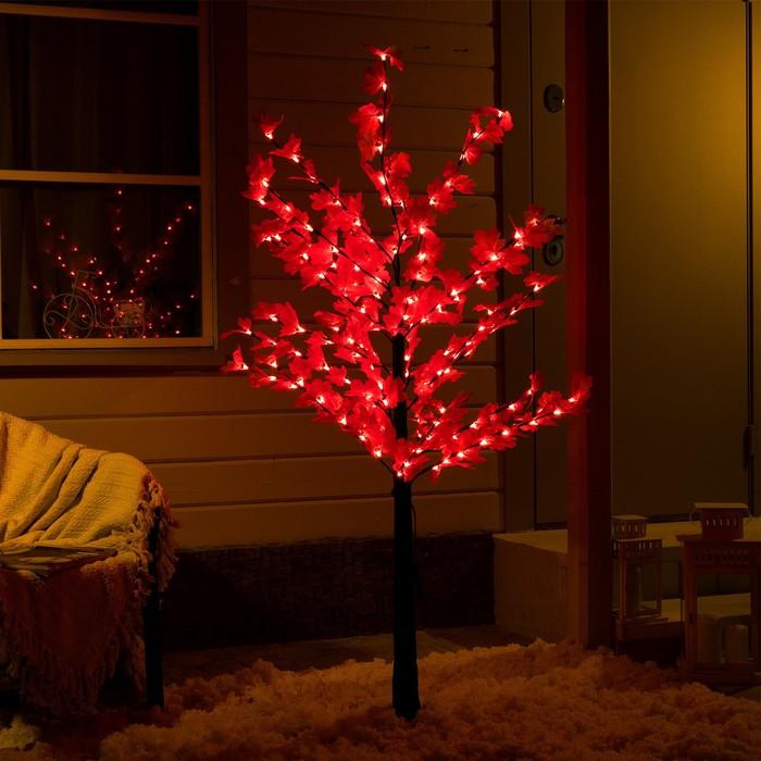 """Дерево светодиодное """"Клен красный"""", 1,6 м, 160 LED, 220 В, КРАСНЫЙ"""