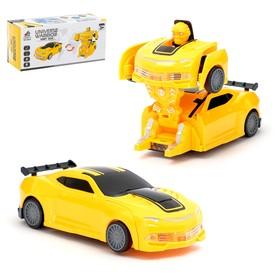 Робот «Автобот», трансформируется, световые и звуковые эффекты, работает от батареек, цвета МИКС Ош