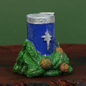 Свеча рождественская «Сeребряное Рождество» Ош