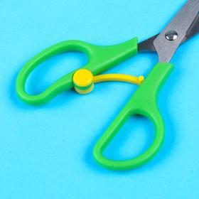 Ножницы детские 13 см, безопасные, пластиковые ручки с авто. механизмом-фикс.  цвет МИКС Ош