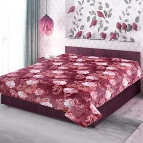 Плед, размер 150 × 200 см, фланель, цвет бордовый