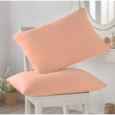 Наволочка, размер 50 × 70 см-2 шт, цвет персиковый