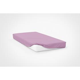 Простыня, размер 120×200×20 см, цвет розовый