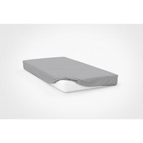 Простыня, размер 120×200×20 см, цвет серый
