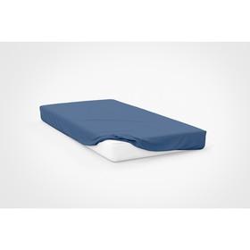 Простыня, размер 120×200×20 см, цвет синий