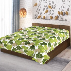 Плед, размер 150 × 200 см, цвет зелёный