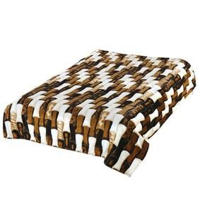 Плед, размер 150 × 200 см, цвет коричневый