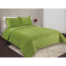 Комплект Bland: покрывало 230×250 см, наволочка 50×70-2 шт, цвет зелёный
