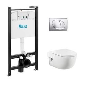 Комплект инсталляции: Meridian Pack подвесной унитаз, инсталляция, кнопка, сиденье микролифт Ош