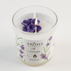 """Ароматическая свеча Aroma Harmony """"Лаванда"""", 160 г"""