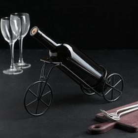 Подставка для бутылки «Велосипед», 33×10×15 см, цвет коричневый Ош