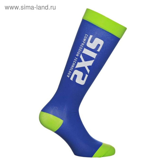 Носки компрессионные SIXS RECOVERY, размер M, голубой, зелёный