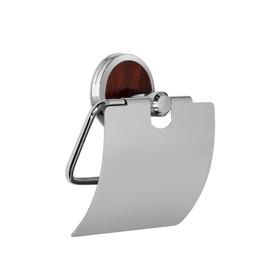 Держатель туалетной бумаги с крышкой, хром LT13104