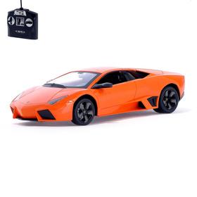 Машина радиоуправляемая Lamborghini Reventon, 1:14, работает от аккумулятора, свет, цвет оранжевый