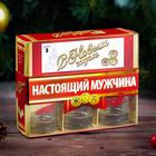 Подарочный набор «С Новым годом, настоящий мужчина», рюмки и домино - Фото 2