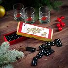 Подарочный набор «С Новым годом, настоящий мужчина», рюмки и домино - Фото 1