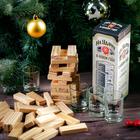 Подарочный набор «На удачу в новом году!», рюмки и падающая башня