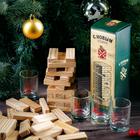 Подарочный набор «С Новым годом!», рюмки и падающая башня