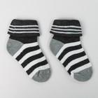 Носки детские махровые, цвет серый, размер 16-18