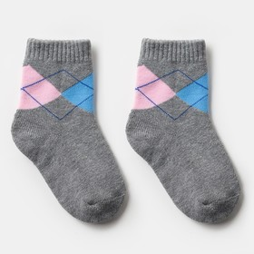 Носки детские махровые, цвет серый, размер 14-16
