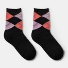 Носки детские махровые, цвет чёрный, размер 20-22