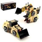 Робот-трансформер «Бульдозер», световые и звуковые эффекты, работает от батареек