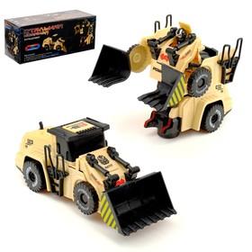 Робот «Бульдозер», трансформируется, световые и звуковые эффекты, работает от батареек