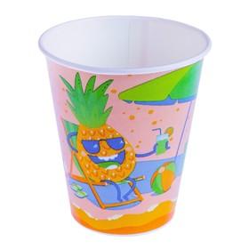 """Стакан """"Фрукты на отдыхе"""" 300 мл, для холодных напитков, диаметр 90 мм"""