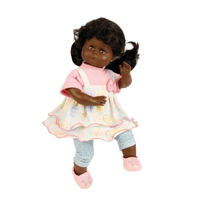 Кукла мягконабивная «Санни», темнокожая, 37 см