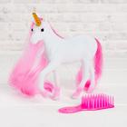 Лошадь «Единорог» с аксессуарами, цвета МИКС