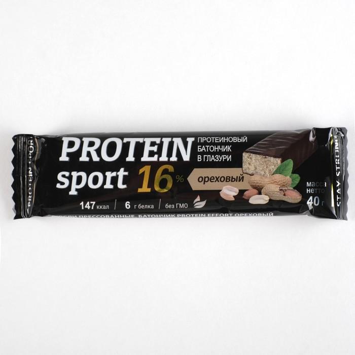 Батончик Protein sport, ореховый, 40 г